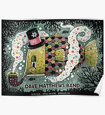 Dave Matthews Band, Tour 2016, Greek Theatre Berkeley CA Poster