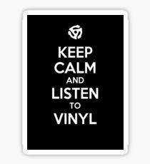 Listen to Vinyl White Sticker