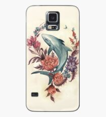 Floral Shark Case/Skin for Samsung Galaxy