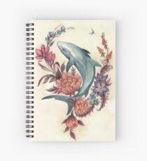 Cuaderno de espiral Tiburón floral