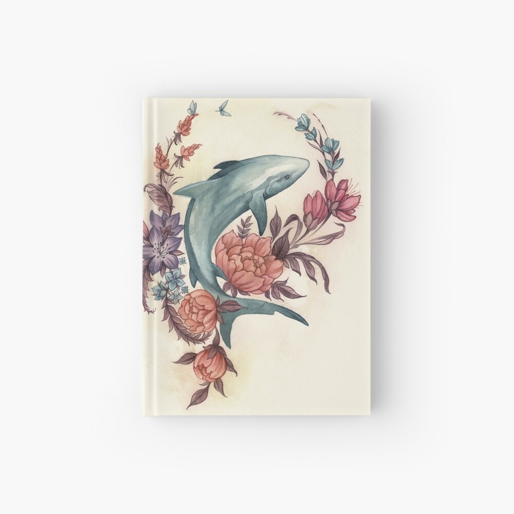 Floral Shark Hardcover Journal