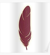 Garnet and Gold Feather Poster