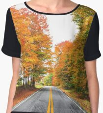 autumn road Chiffon Top