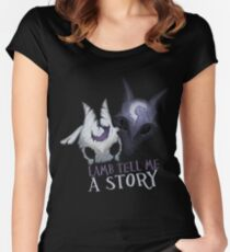 Lamb tell me a story Kindred Women's Fitted Scoop T-Shirt