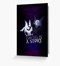 Lamb tell me a story Kindred Greeting Card