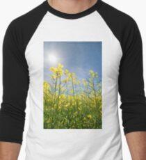Sun Halo Over The Canola Men's Baseball ¾ T-Shirt