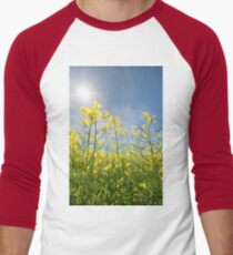 Sun Halo Over The Canola Men's Baseball ¾ T-Shirt