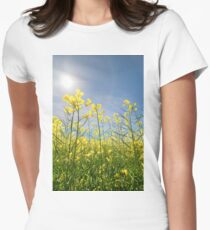 Sun Halo Over The Canola Womens Fitted T-Shirt