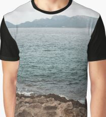 Mediterranean Shore Graphic T-Shirt