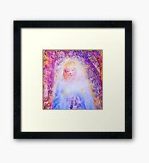 water color,hand painted, angel,girl,God,angels,faith,spiritual,guarding angel, modern,beautiful,art Framed Print