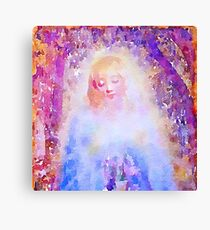 water color,hand painted, angel,girl,God,angels,faith,spiritual,guarding angel, modern,beautiful,art Canvas Print