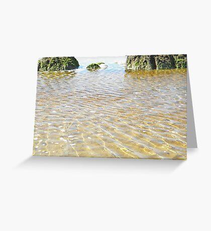 Waves below waves Greeting Card