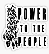 .Power to the People! Activist Protester Sticker