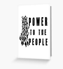 .Power to the People! Activist Protester Greeting Card