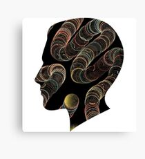 moder art, contemporary art, abstract,worms in my head Canvas Print