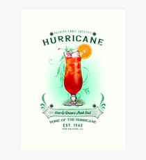 New Orleans Hurricane Cocktail Art Print