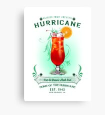 New Orleans Hurricane Cocktail Canvas Print