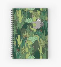Cactus Sloth Spiral Notebook