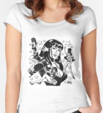 The many Moods of Tura Women's Fitted Scoop T-Shirt