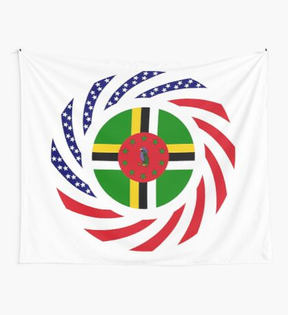 Dominica American Multinational Patriot Flag Series Wall Tapestry