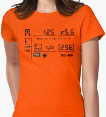 Camera Display Women's Fitted T-Shirt