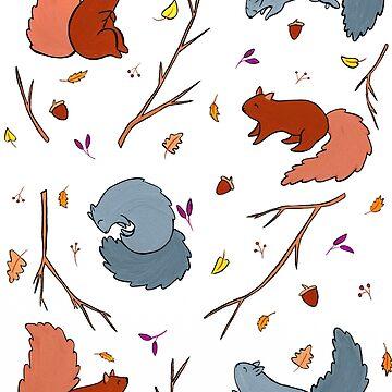 Squirrel Riot by LittleBeanMakes