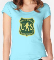 US Forest Service Bigfoot  Women's Fitted Scoop T-Shirt