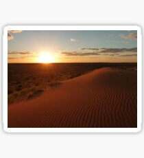 Sunset at Big Red (Birdsville) Sticker