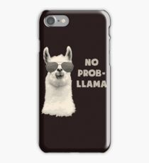 No Problem Llama iPhone Case/Skin
