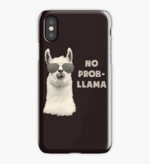 No Problem Llama iPhone Case