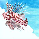 Tropical lionfish by Andrea England