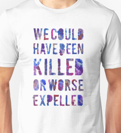 OR WORSE (painted) Unisex T-Shirt