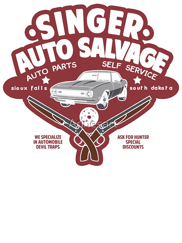 Singer Auto Salvage Stickers By Arinesart Redbubble