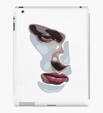 Simplistic face  iPad Case/Skin