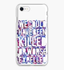 OR WORSE (outline - painted) iPhone Case/Skin