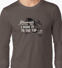 Yosemite National Park Half Dome California America IMITTT I Made It To The Top Long Sleeve T-Shirt