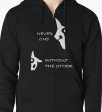 Kindred - Wolf & Lamb - NEVER ONE WITHOUT THE OTHER Zipped Hoodie