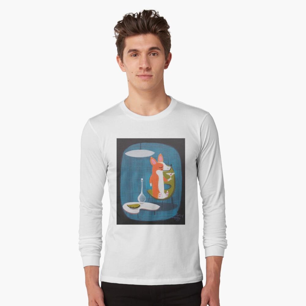 Corgi At Home Long Sleeve T-Shirt Front