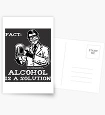 Alcohol is a Solution in Chemistry Postcards