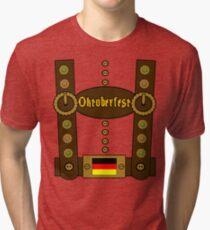 Oktoberfest Lederhosen Funny Tri-blend T-Shirt