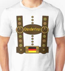 Oktoberfest Lederhosen Funny Slim Fit T-Shirt