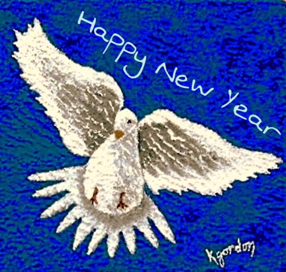 Happy New Year  by WhiteDove Studio kj gordon