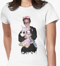 justin blake unicorn Women's Fitted T-Shirt