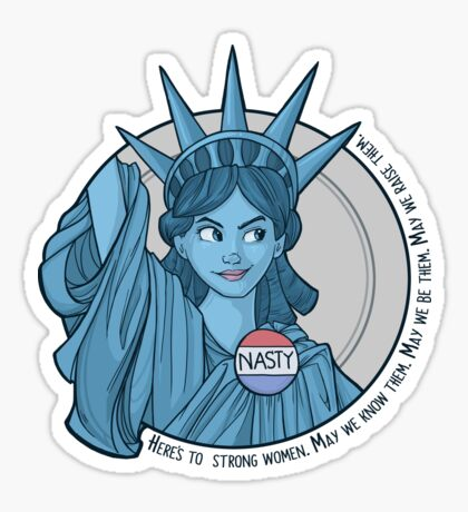Nasty Lady Liberty Sticker