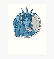 Nasty Lady Liberty Art Print