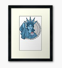 Nasty Lady Liberty Framed Print