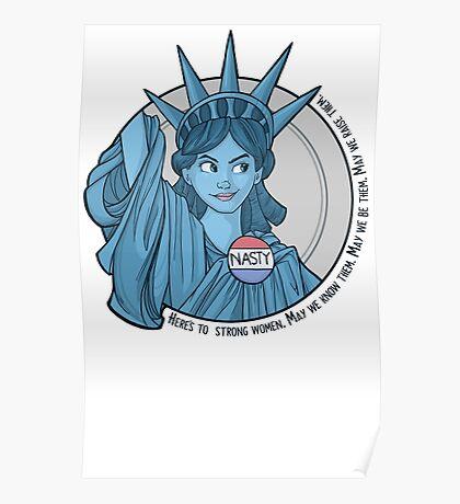 Nasty Lady Liberty Poster
