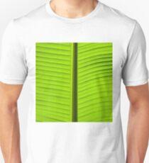 Close-up on Green banan leaf background Slim Fit T-Shirt