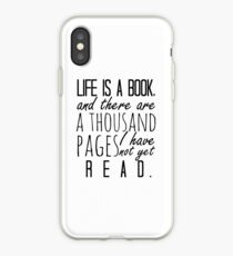 """""""Life is a book. . ."""" - Will Herondale Quote iPhone Case"""