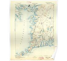 Massachusetts  USGS Historical Topo Map MA Falmouth 352633 1893 62500 Poster